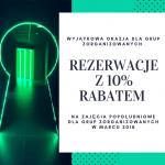 Rezerwacje z 10% rabatem na zajęcia popołudniowe dla grup zorganizowanych w marcu 2018
