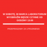 Zmiana godzin pracy Laboratorium Wyobraźni w sobotę, 30 marca